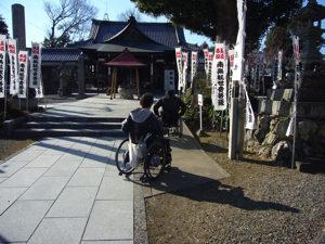 大師堂 拝殿への正面の参道
