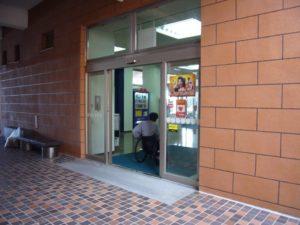 中央公民館の出入口