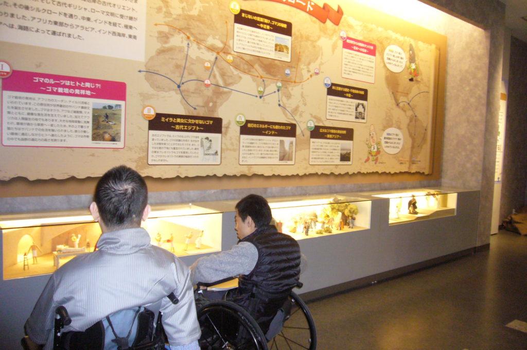 ゴマの歴史についてのパネル展示