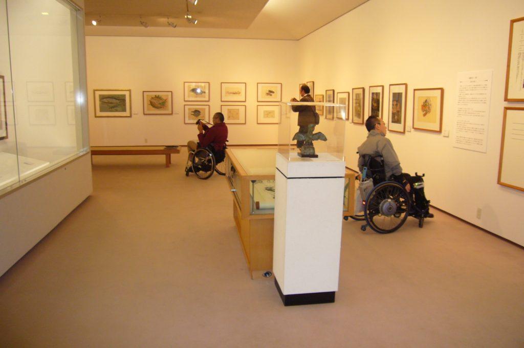数多くの作品展示