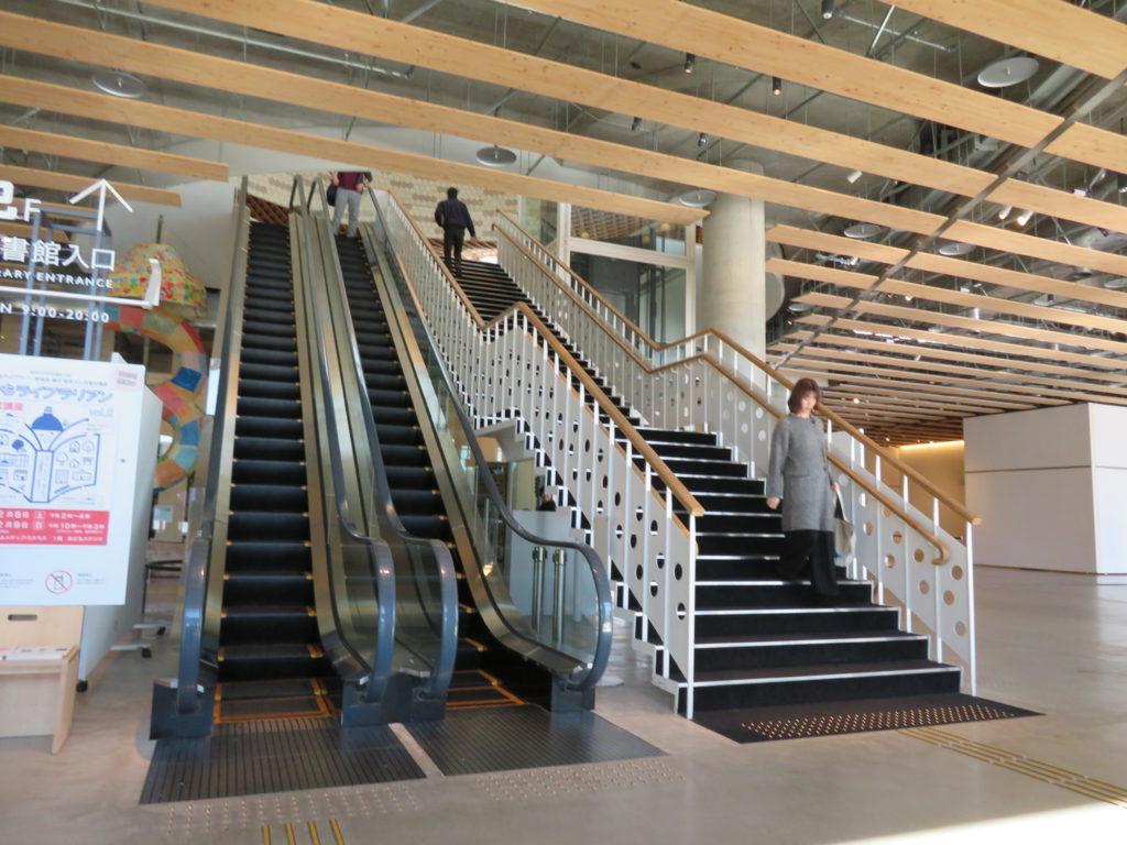 エスカレーターと階段