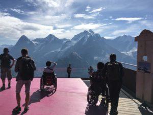 ツアーの写真2 スイスアルプスを眺める