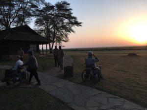 ツアーの写真1 草原の夕焼け