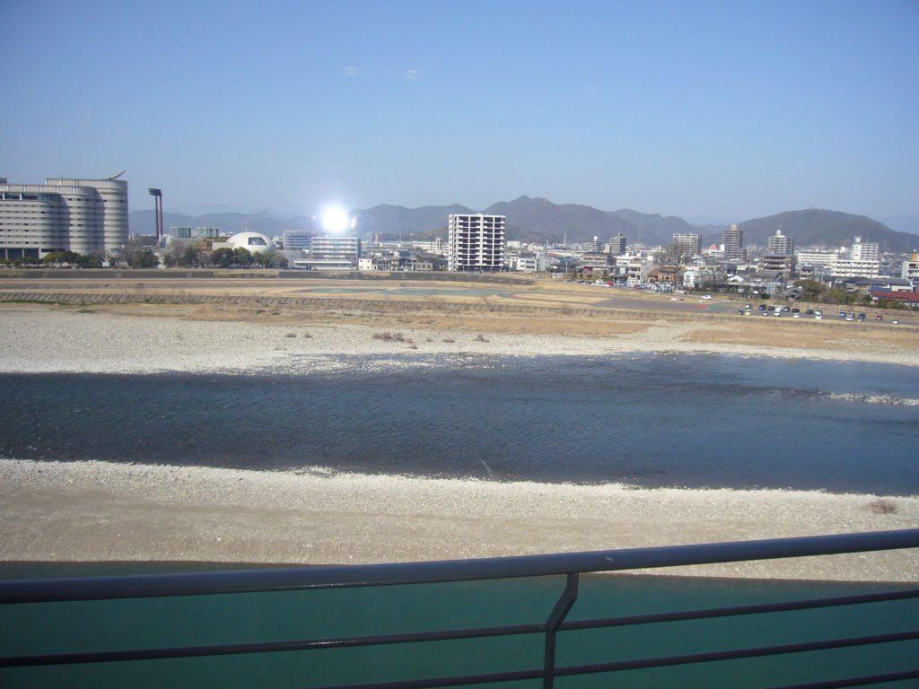 客室からの長良川の眺め